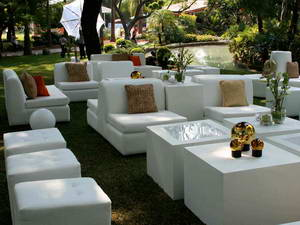 Muebles lounge en renta en monterrey carpa real for Alquiler muebles para eventos